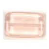 Glass Bead Flat Rectangle 19x12mm Rosaline - Strung